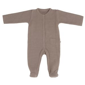 Playsuit with feet Pure mocha - 50