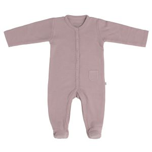 Playsuit with feet Pure old pink - 50