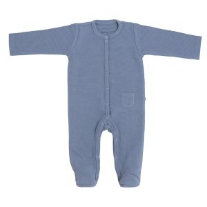 Playsuit with feet Pure vintage blue - 56
