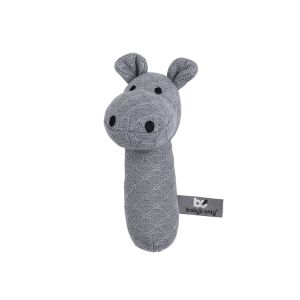 Rattle Hippo grey