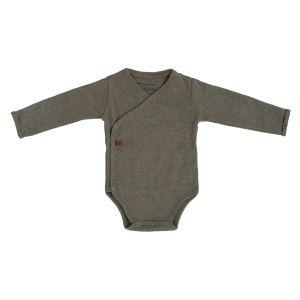 Romper long sleeves Melange khaki - 50