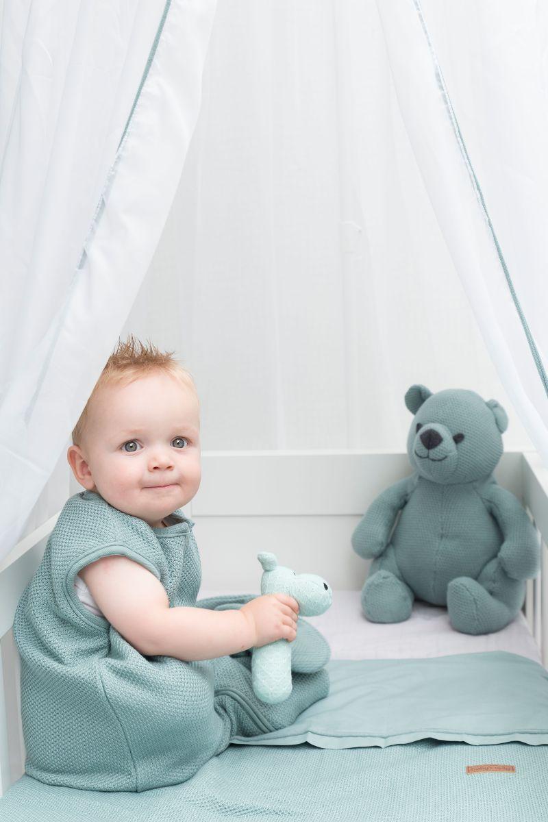 sleeping bag teddy classic powder blue 70 cm