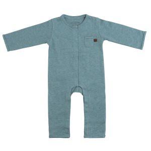 Sleepsuit Melange stonegreen - 68