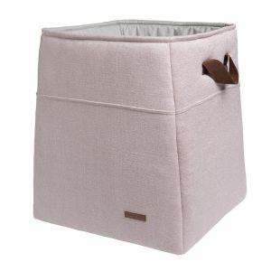 Storage basket Sparkle silver-pink melee
