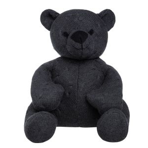 Stuffed bear Cable anthracite - 35 cm