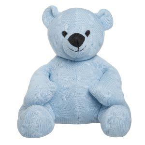 Stuffed bear Cable baby blue - 35 cm