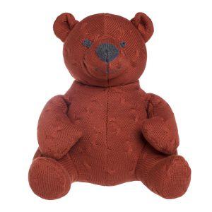 Stuffed bear Cable brique - 35 cm