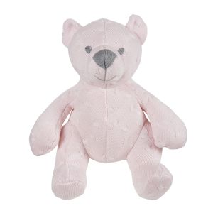 Stuffed bear Cable classic pink - 35 cm