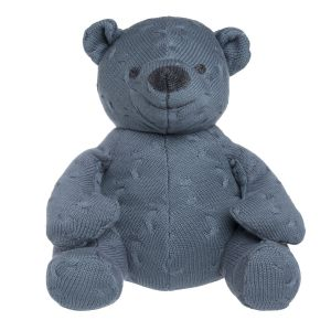 Stuffed bear Cable granit - 35 cm