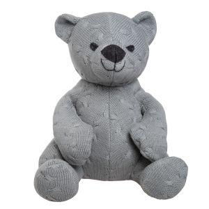 Stuffed bear Cable grey - 35 cm
