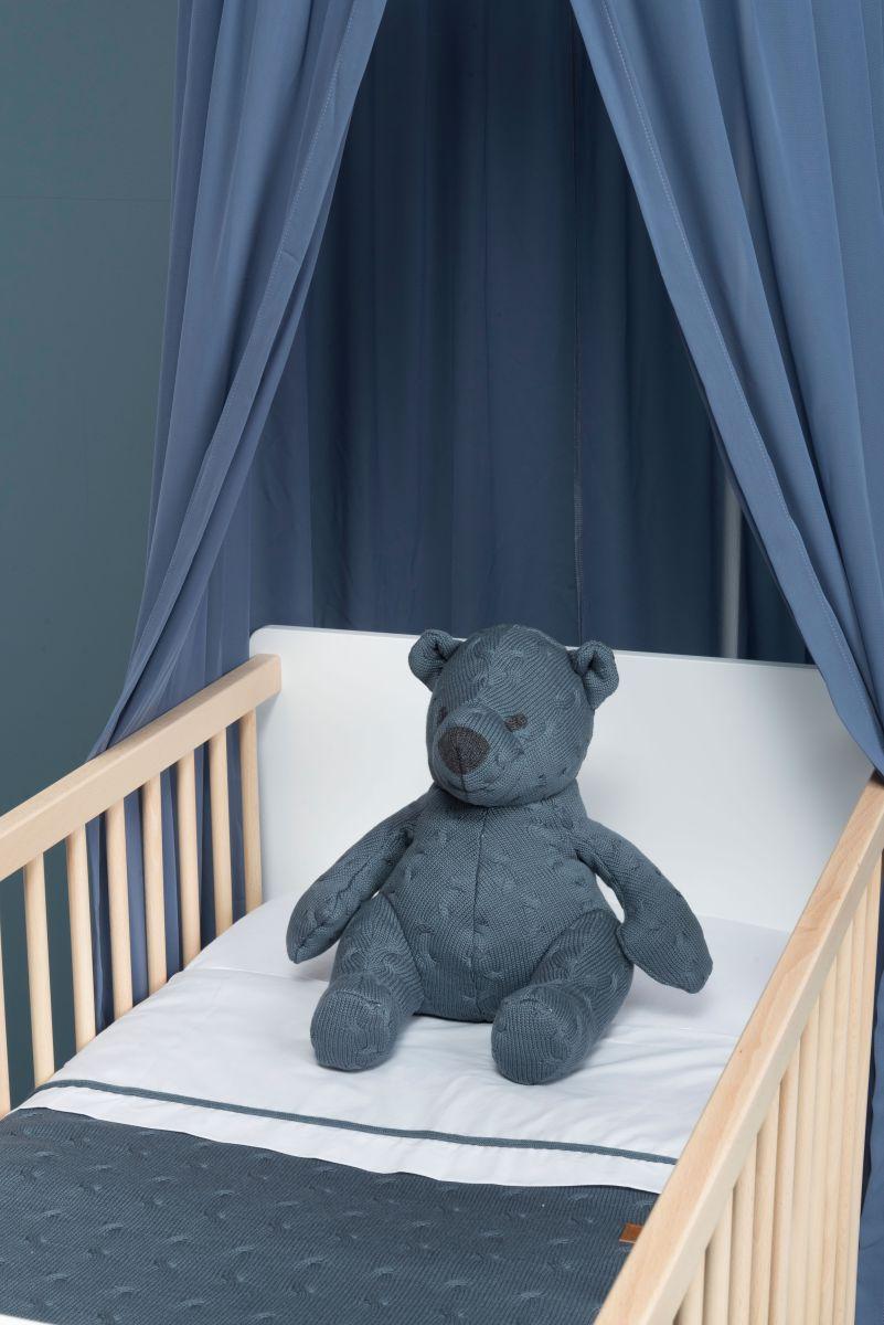 stuffed bear cable grey 35 cm