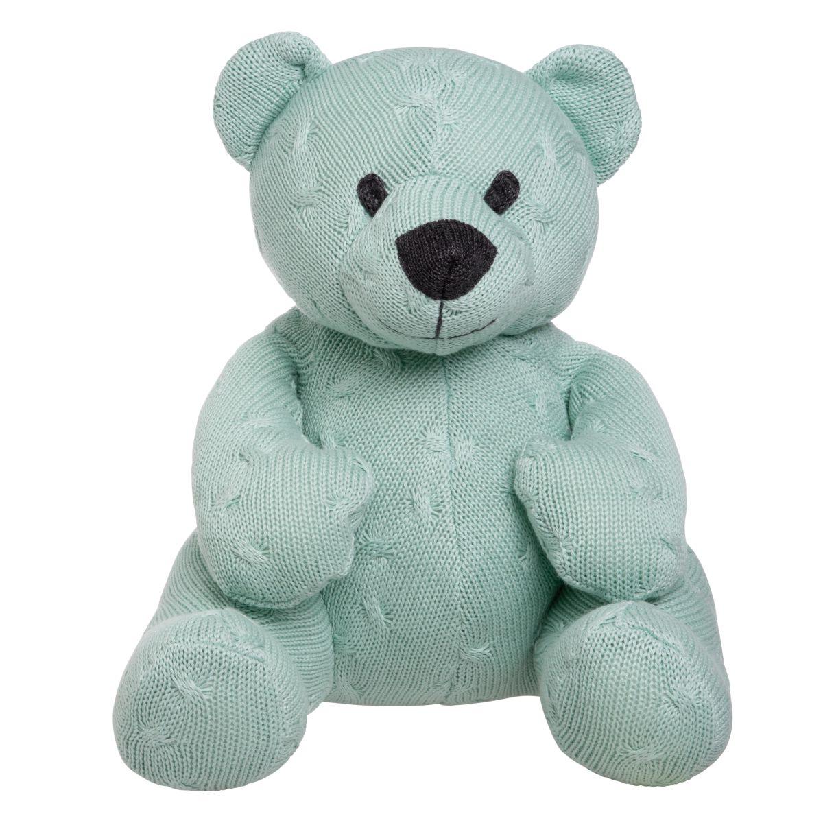 stuffed bear cable mint 35 cm
