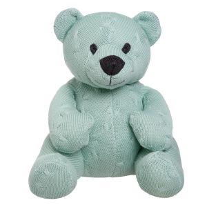 Stuffed bear Cable mint - 35 cm