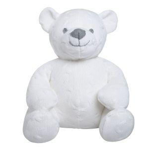 Stuffed bear Cable white - 35 cm