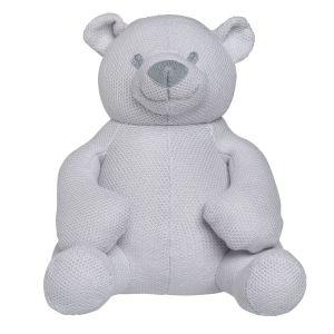 Stuffed bear Classic silver-grey