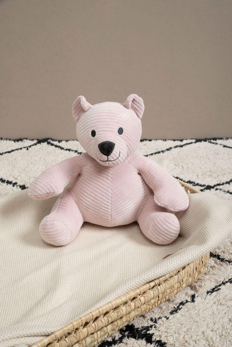 stuffed bear sense old pink