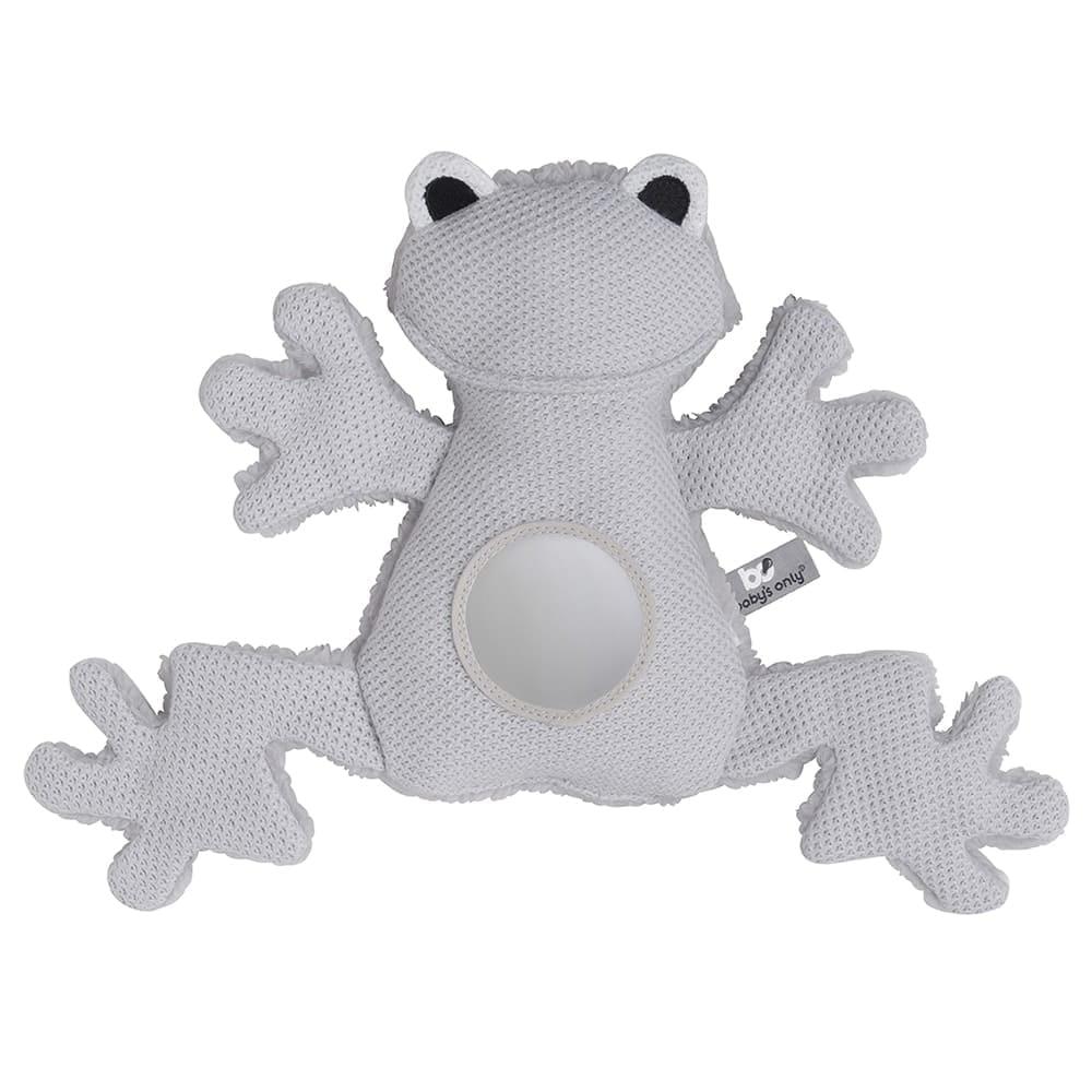 stuffed frog silvergrey