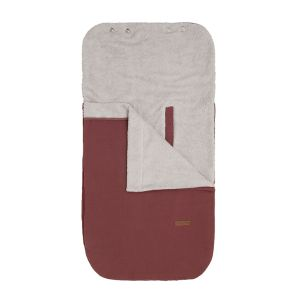 Summer footmuff car seat 0+ Breeze stone red