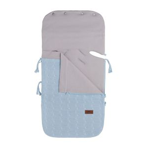 Summer footmuff car seat 0+ Cable baby blue