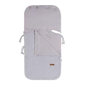 Summer footmuff car seat 0+ Classic silver-grey
