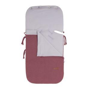 Summer footmuff car seat 0+ Classic stone red