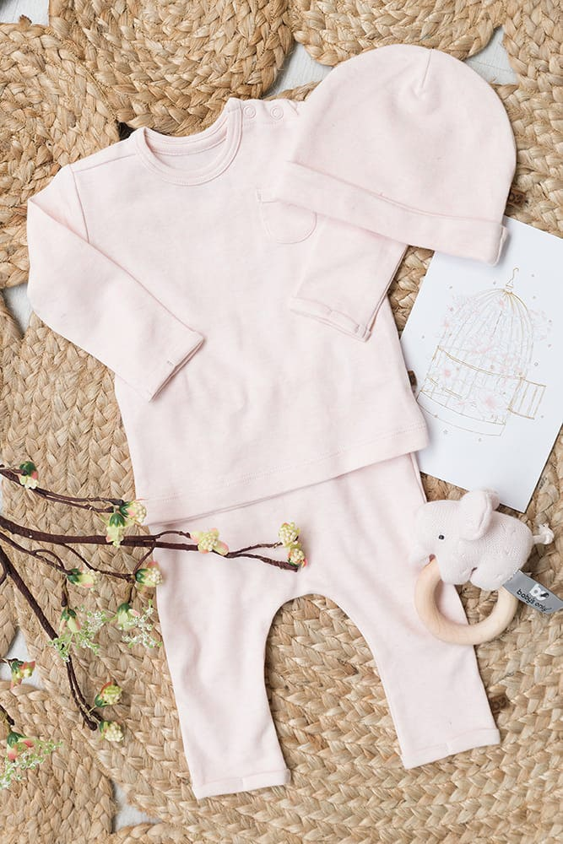 sweater melange classic pink 50