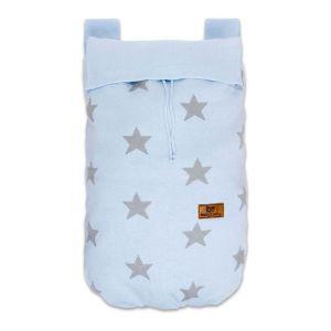 Toy bag Star baby blue/grey