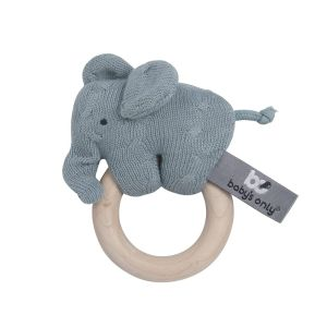 Wooden rattle Elephant stonegreen